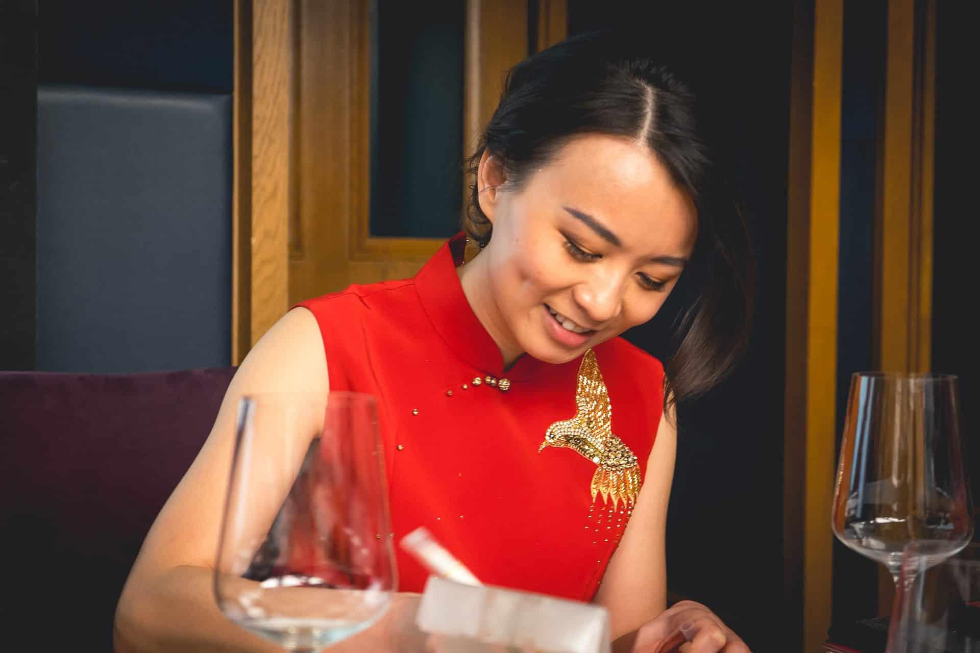 Janet Wang, wine expert, Lu Ban Restaurant